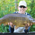 20 lb common carp in South Cherney UK caught on a zig bug