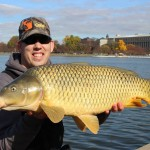 a 22 lb common carp caught on panko pack bait and jello