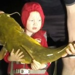 My son Tommy with a 25 lb flathead that he helped me with.