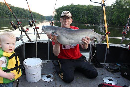 30 lb blue catfish caught on bluegill.