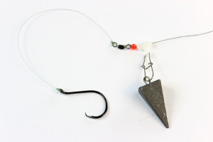 The fish finder rig is a classic catfish rig.