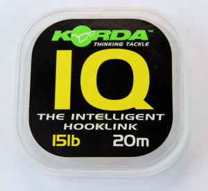 Korda Intelligent Hook link: this is stiff mono filament leader with lots of memory.