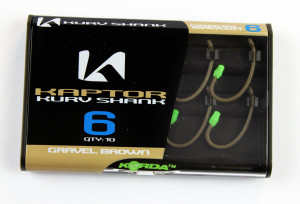 Korda Kapture Kurv Shank hooks are incredibly sharp, camouflaged and super-strong despite their tiny size.