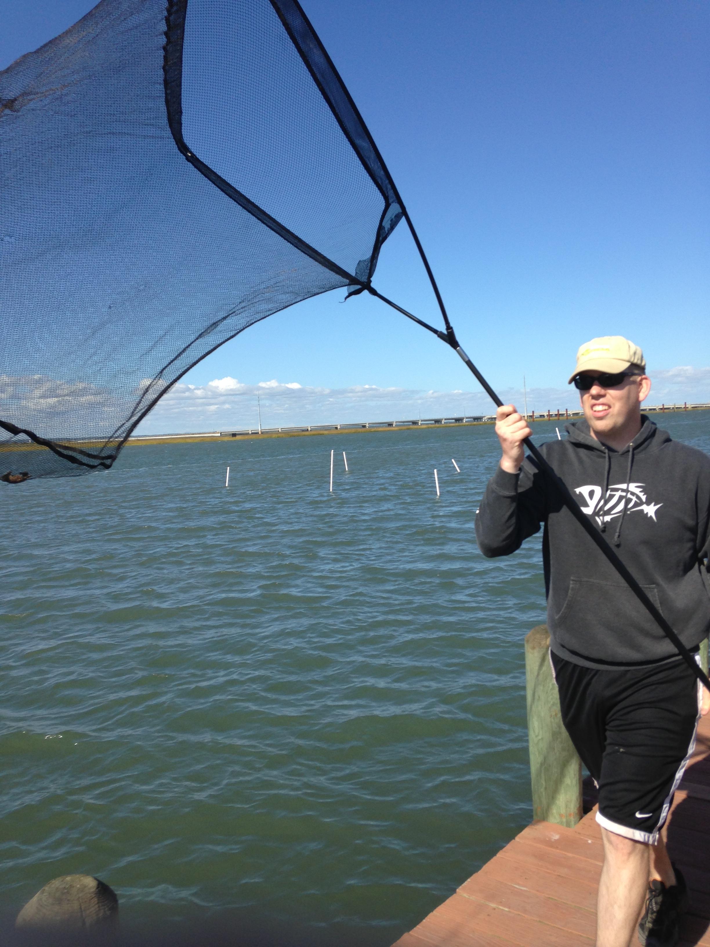 Carp equipment for Pier fishing net