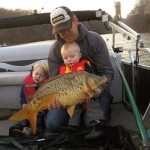 Nathan's first fishing trip and first mirror carp.