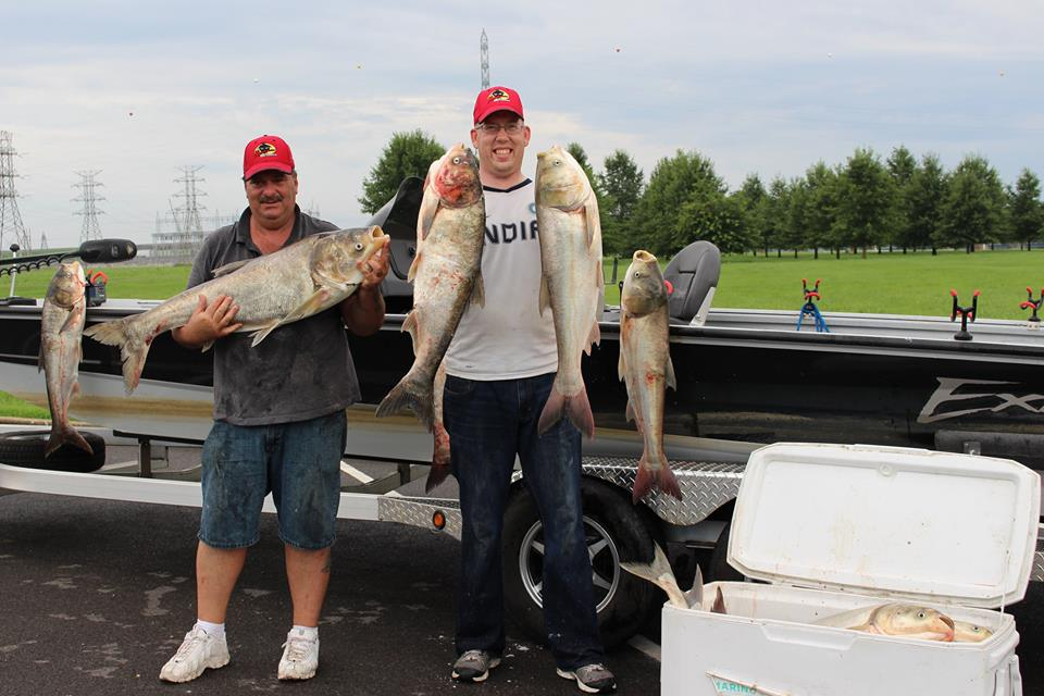 Silver and bighead carp from KY caught with Steve Douglas