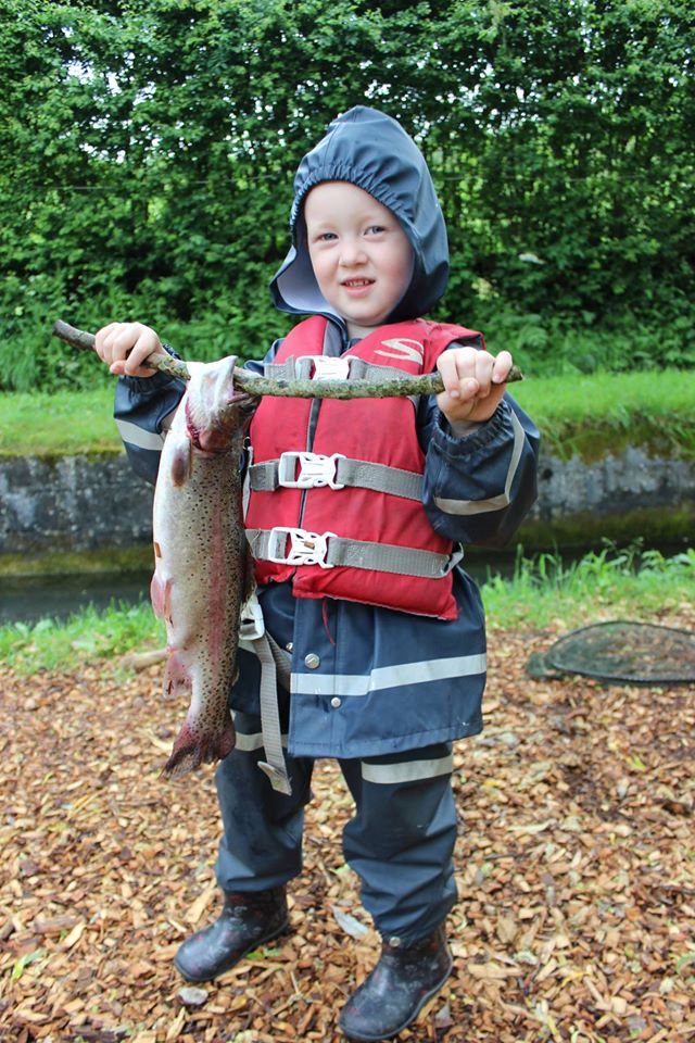 Tommy and his British Rainbow trout