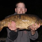 A nice british common carp on a zig bug