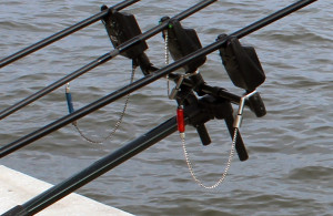 Bite alarms and bobbins fishing.