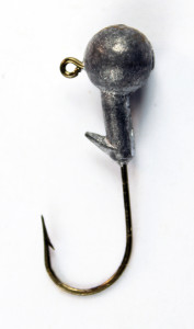 Lead head jig hook