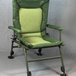 With the feet at the lowest setting the chair will still let you sit inside most bivies and tents