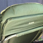 The upholstery detaches with velcro for cleaning or replacement.