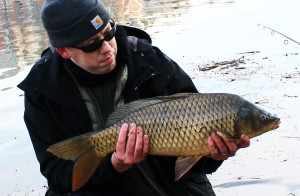 Winter Carp Fishing in Virginia.
