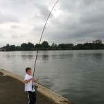 full sized carp or cat rods can be way too much for some kids