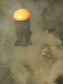Spod dumping particle bait