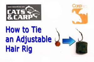 How to tie an adjustable hair rig