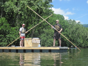 The ultimate fishing raft