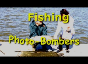 Fishing photo bombers