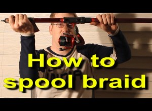 How to spool braid on a reel