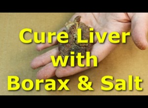 Curing chicken liver with borax and salt