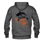 Catfish & Carp hoodie with Logo front and back.